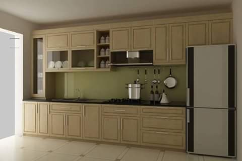 model kitchen set sederhanas kayu jati