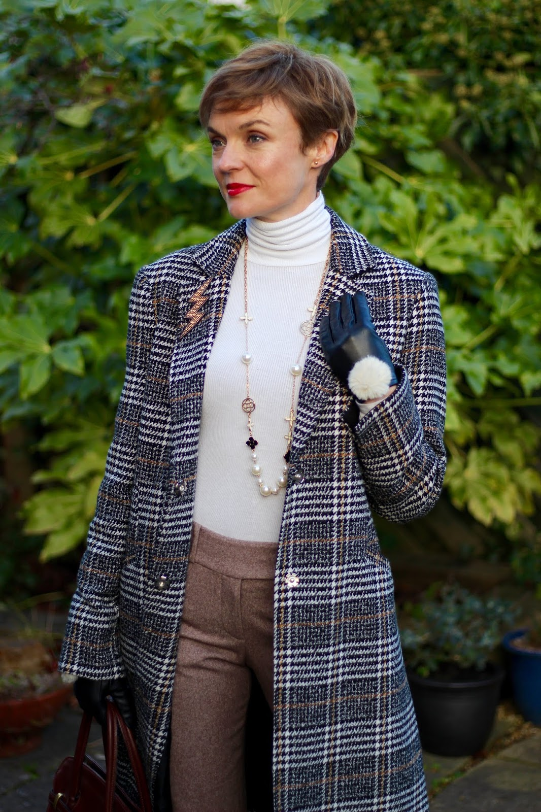 Checked Coat & Wool Trousers | Winter Style | Fake Fabulous