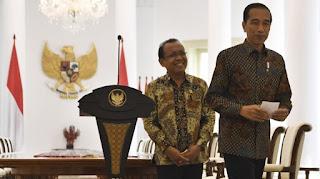 Jokowi didampingi Mensesneg
