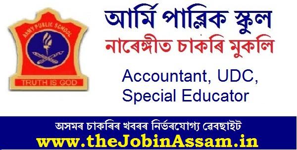Army Public School, Narangi Recruitment 2020