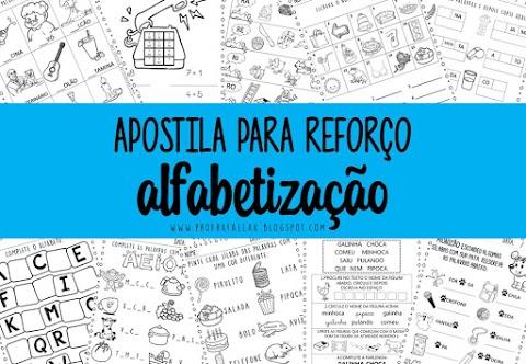 APOSTILA DE REFORÇO PARA ALFABETIZAÇÃO