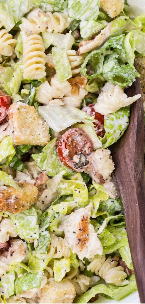 Pasta Chicken Caesar Salad