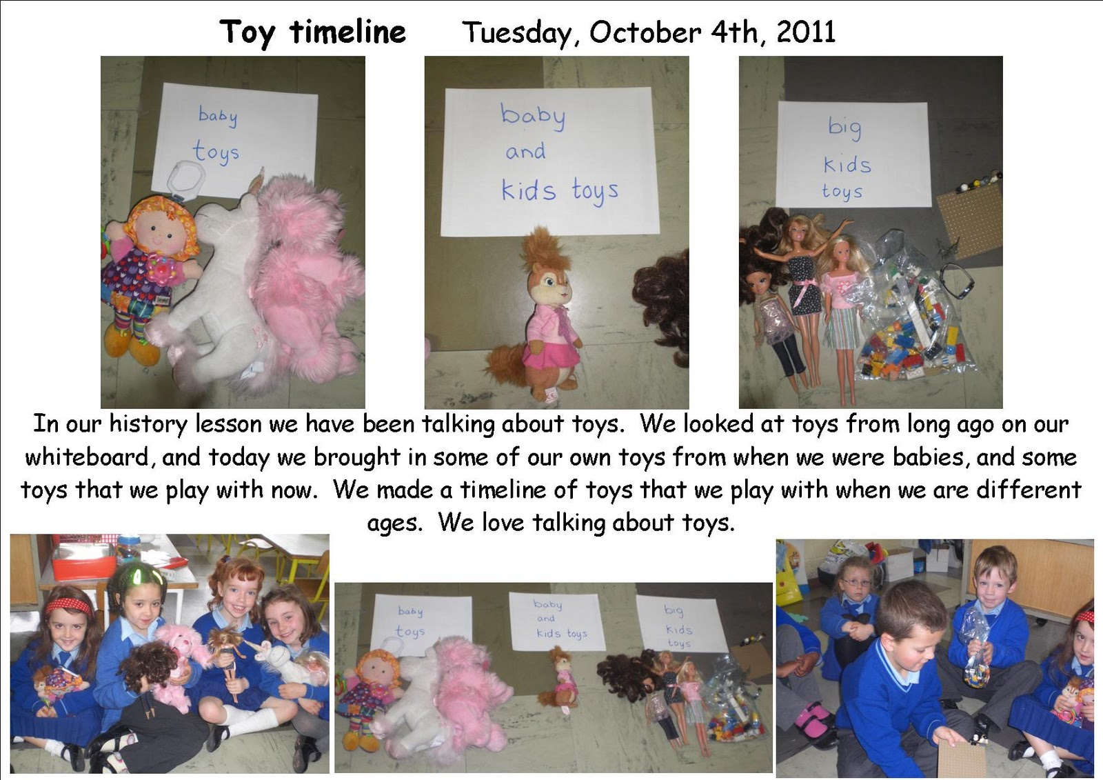 History Geography And Sphe Site Toy Timeline Senior Infants