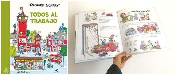 cuento infantil 5 a 8 años regalar Navidades Todos al trabajo Richard Scarry