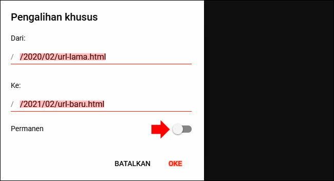 Cara Redirect URL Halaman di Blog