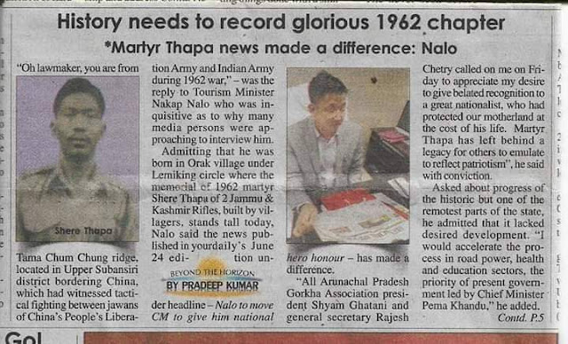 Hawaldar Sher Bahadur Thapa - unsung Sino-India war hero
