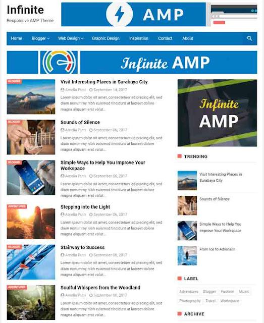 Infinite AMP Template For Blogger