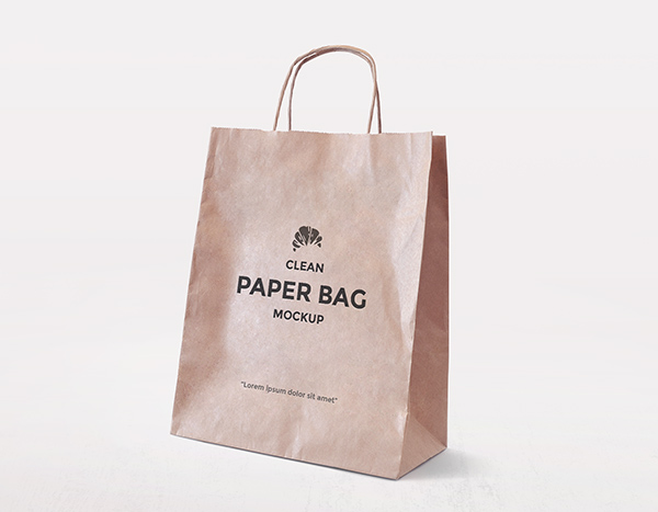 Download Template Mockup Terbaru - Simple Paper Bag Mockup