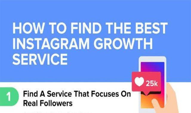 How to Find The Best Instagram Growth Service #infographic
