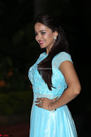 Pujita Ponnada in transparent sky blue dress at Darshakudu pre release ~  Exclusive Celebrities Galleries 080.JPG