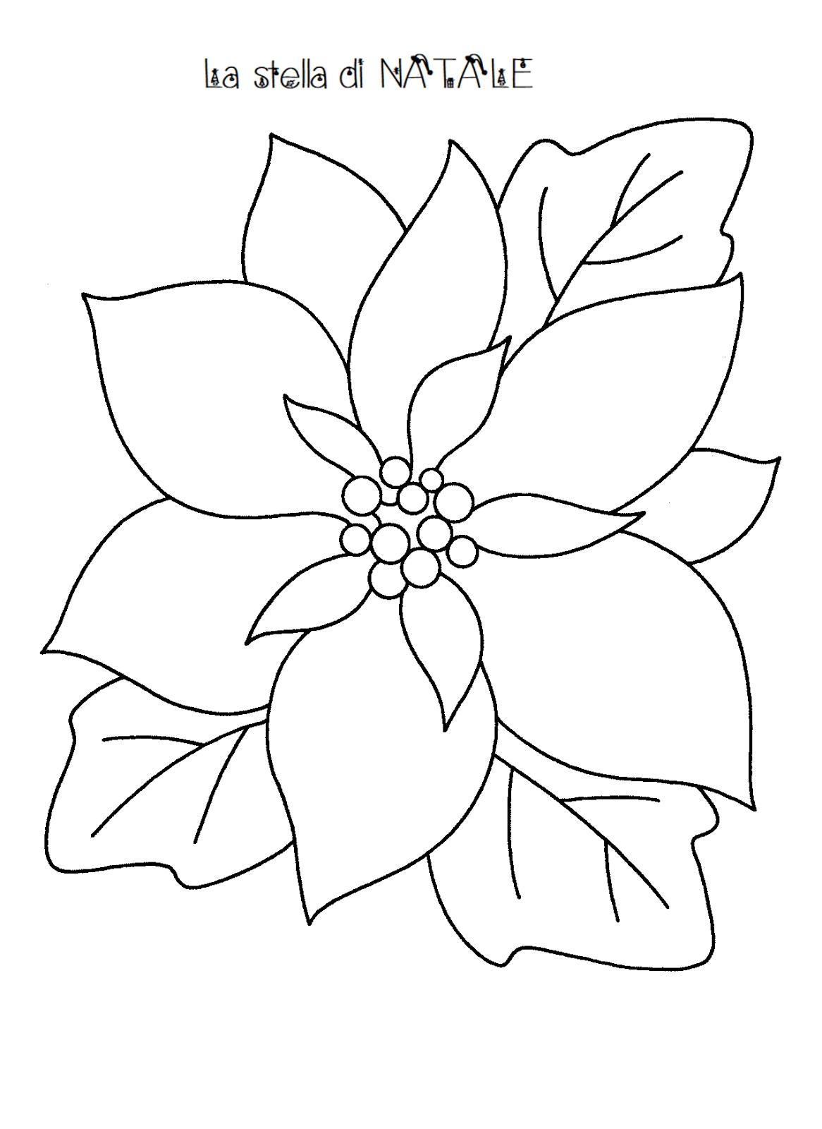Disegni Stelle Di Natale Da Colorare.Stella Da Colorare Di Natale Sagome Stella Di Natale