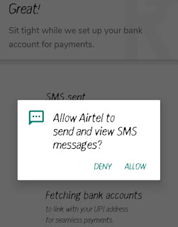 How to check Airtel balance in hindi : allow option