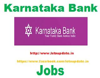 Karnataka Bank Recruitment for Scale I Officer, letsupdate,freejobclues for bank, jobalertsfor bank