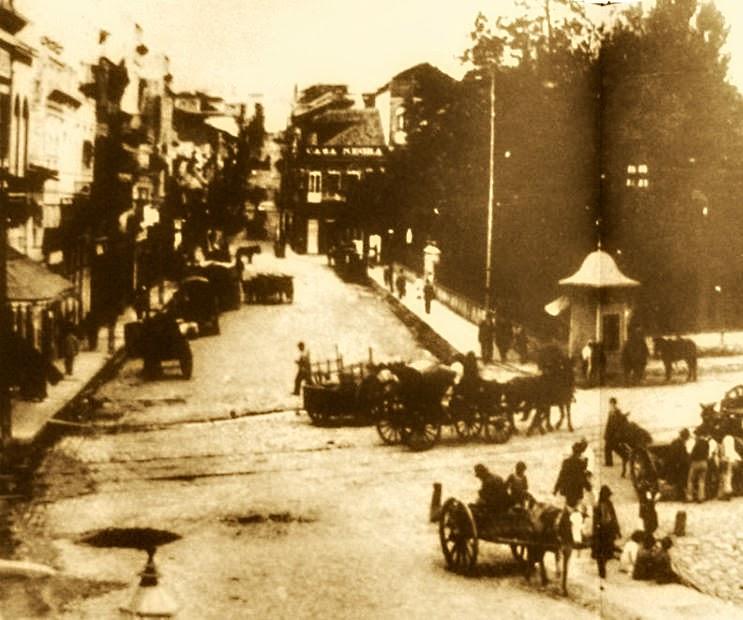 Porto Alegre: Esquina Marechal Floriano com a  Voluntários da Pátria, em 1865