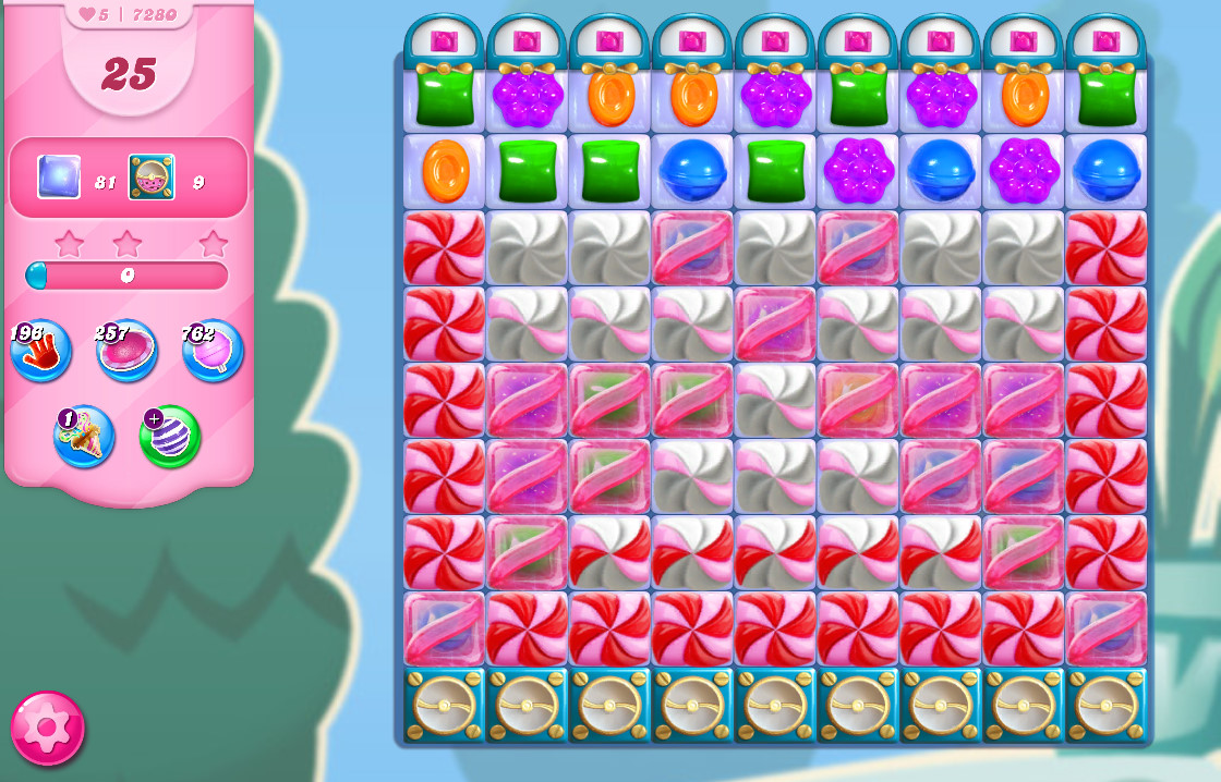 Candy Crush Saga level 7280