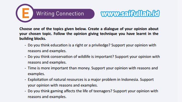Jawaban Soal Bahasa Inggris Halaman 29 Chapter 2 Kelas 11 SMA