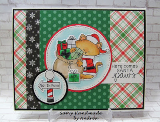 Here comes Santa Paws by Andrea W. features Santa Paws Newton by Newton's Nook Designs; #newtonsnook