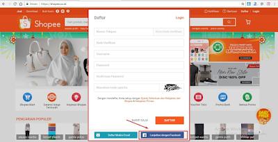 Cara Daftar Akun Shopee Terbaru