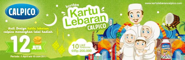 Lomba Desain Kartu Ucapan Lebaran 2017 dari Calpico Total Hadiah 12 Juta Rupiah