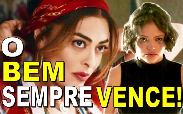 Maria da Paz (Juliana Paz) e Josiane (Agatha Moreira) - (Imagem: Reprodução/TV Globo/Montagem)