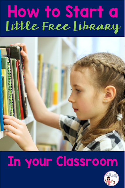 eas and tips for how to start a Little Free Library in your kindergarten, first, or second grade elementary school classroom.  Inspire a love for reading, build community, promote literacy in your building. Perfect for school sprit, classroom management, and getting parents involved! {ELA, reading, literacy night, LFL, 1st, 2nd, K} #takeabook #leaveabook