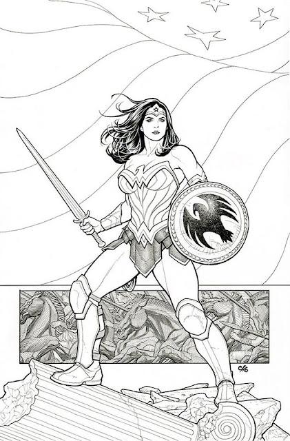 Wonder Woman drawing by Frank Cho