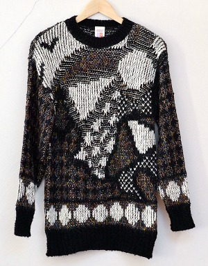 St. Michael (Marks & Spencer) patterned 80s jumper