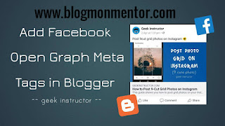 How to Add Facebook Open Graph Data in Blogger