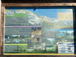 Sign describing the Parco delle Orobie Bergamasche.