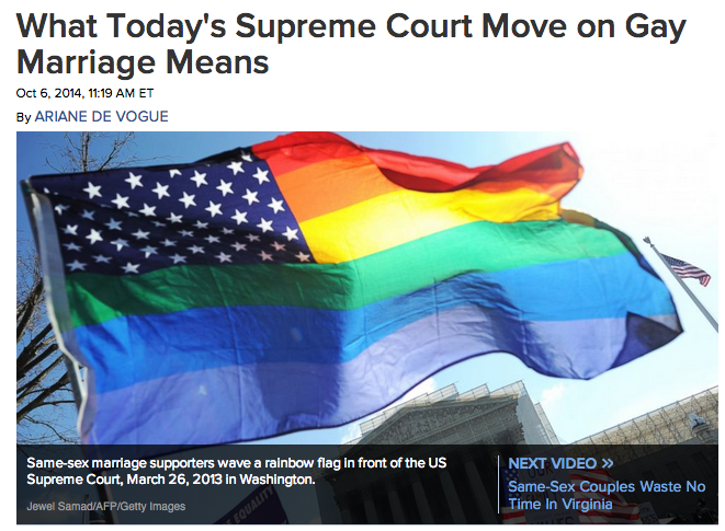 http://abcnews.go.com/Politics/todays-supreme-court-move-gay-marriage-means/story?id=25993317