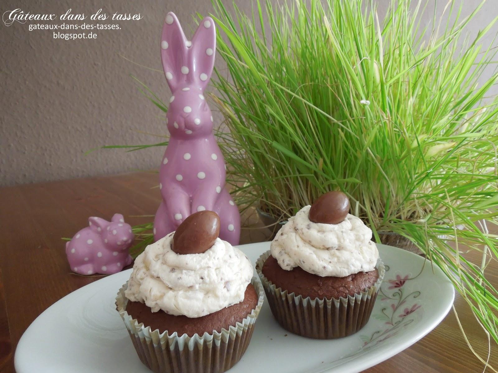 kinderschokolade cupcakes g teaux dans des tasses. Black Bedroom Furniture Sets. Home Design Ideas
