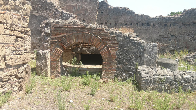 remnants of Pompeii- thought to be a bakery