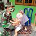 Personil Satgas TMMD Karangayar Sayang dan Cinta Anak Kecil