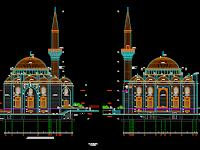 Download Desain AutoCad Masjid Turki
