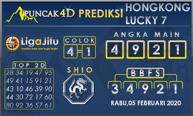 PREDIKSI TOGEL HONGKONG LUCKY7 PUNCAK4D 05 FEBRUARI 2020