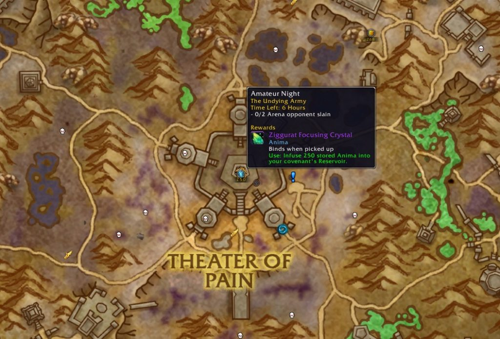 "The arena quest in Maldraxxus is particularly worthwhile because you can combine it with the daily ""Bet on Yourself""."
