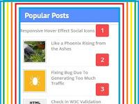 Cara Membuat Popular Post dengan Thumbnail/Gambar