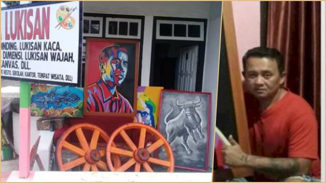 Seniman Ini Jual Lukisan Jokowi demi Menyambung Hidup di Tengah Pandemi