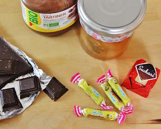 Ingrédients pour coeurs fondants au chocolat, Anilouka