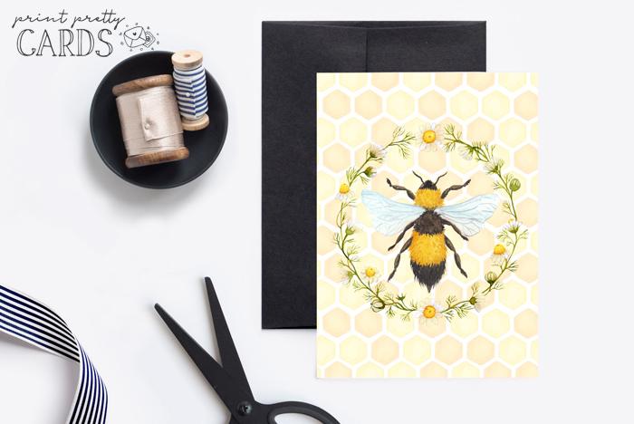 Printable Bee Card