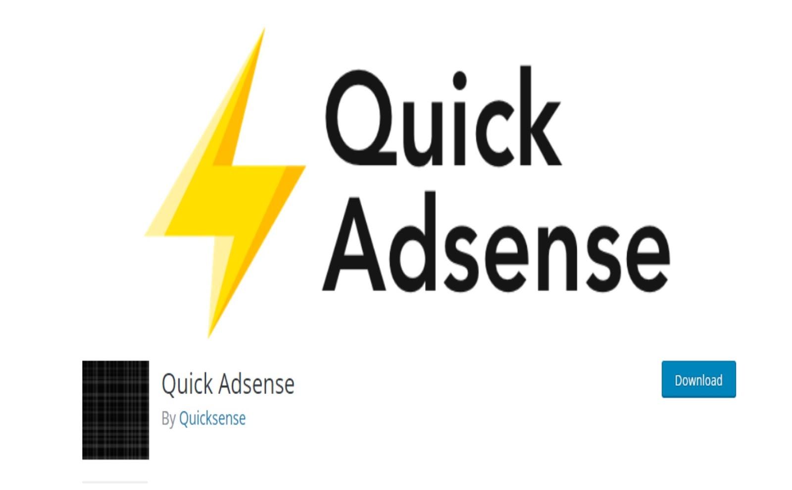 Quick Adsense WordPress Plugin