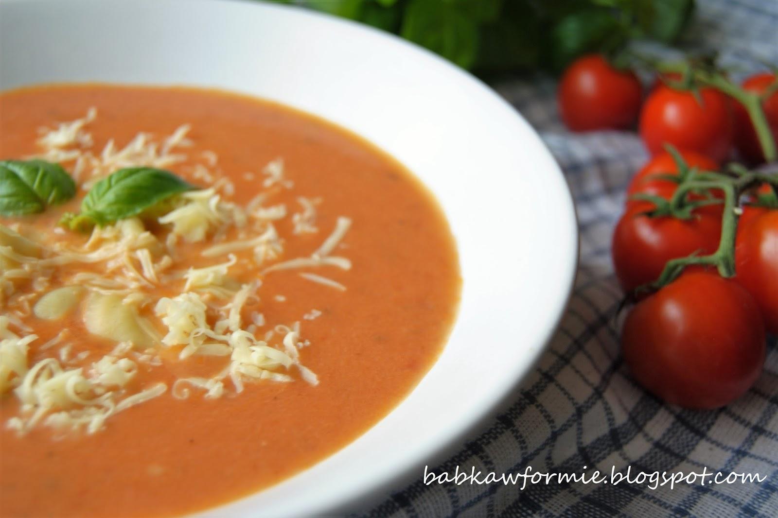 zupa krem z pieczonych pomidorów babkawformie.blogspot.com