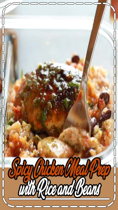 Spicy Chicken Meal Prep with rice and beans + a yummy cilantro sauce = healthy meal prep to last you all week! Meal planning that is healthy, delicious, AND beautiful! #mealprep #chicken #healthy #cleaneating #makeahead #recipe | pinchofyum.com