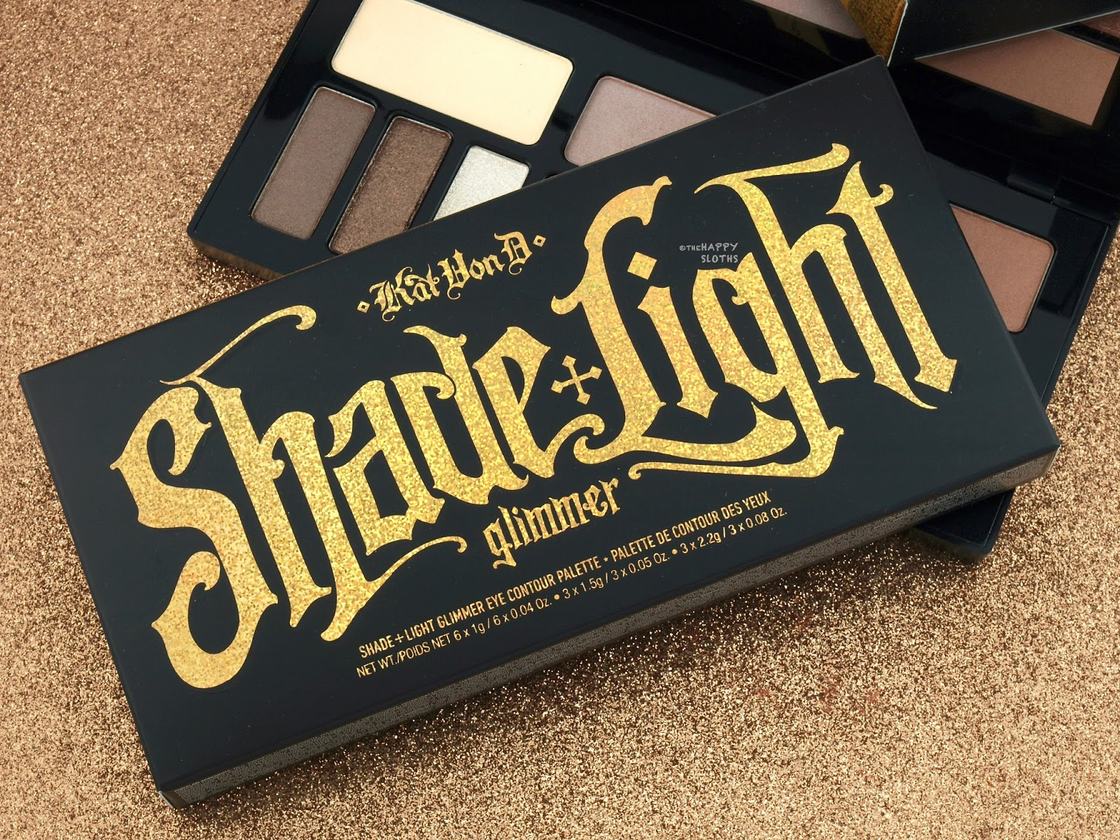 Kat Von D | Shade + Light Glimmer Eye Contour Palette: Review and Swatches