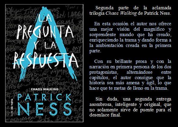 La Pregunta y la Respuesta de Patrick Ness