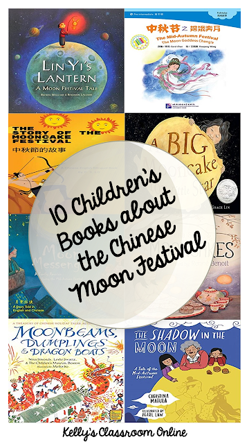 A compilation of 10+ children's books about the Chinese Moon Festival, what it is, who celebrates it, and how it's celebrated. Fiction and nonfiction.