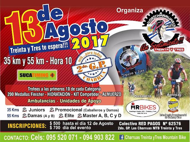 MTB - GP Charrúas en Treinta y tres (13/ago/2017)