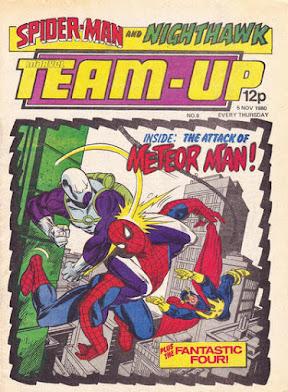 Team-Up #8, Spider-Man and Nighthawk vs Meteor-Man
