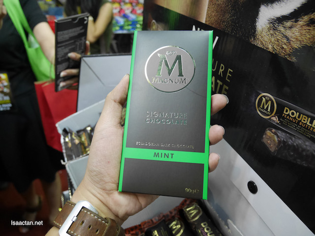 Interesting Magnum Mint Signature Chocolate Bars, fully imported.