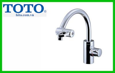 Thông số kích thước vòi rửa chén bát TOTO TKF51PN nhiệt độ